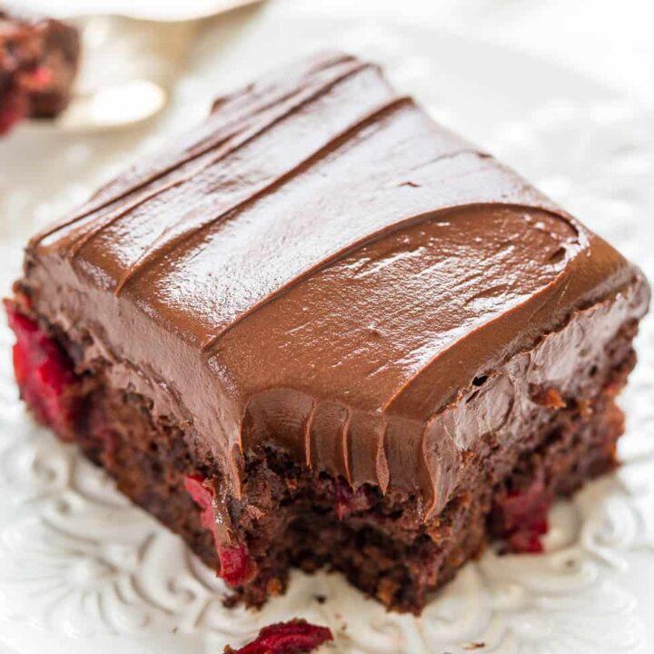 Triple Chocolate Cherry Cake