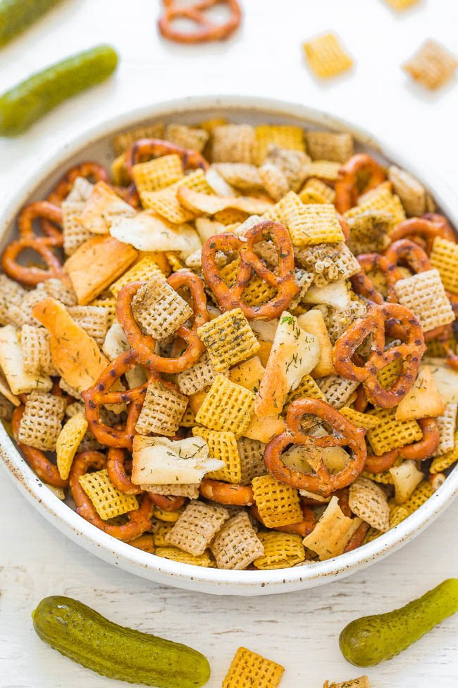 5-Minute Dill Pickle Chex Mix