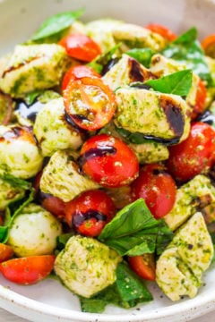 Pesto Chicken Caprese Salad