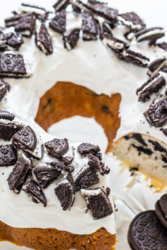 Cookies and Cream Bundt Cake
