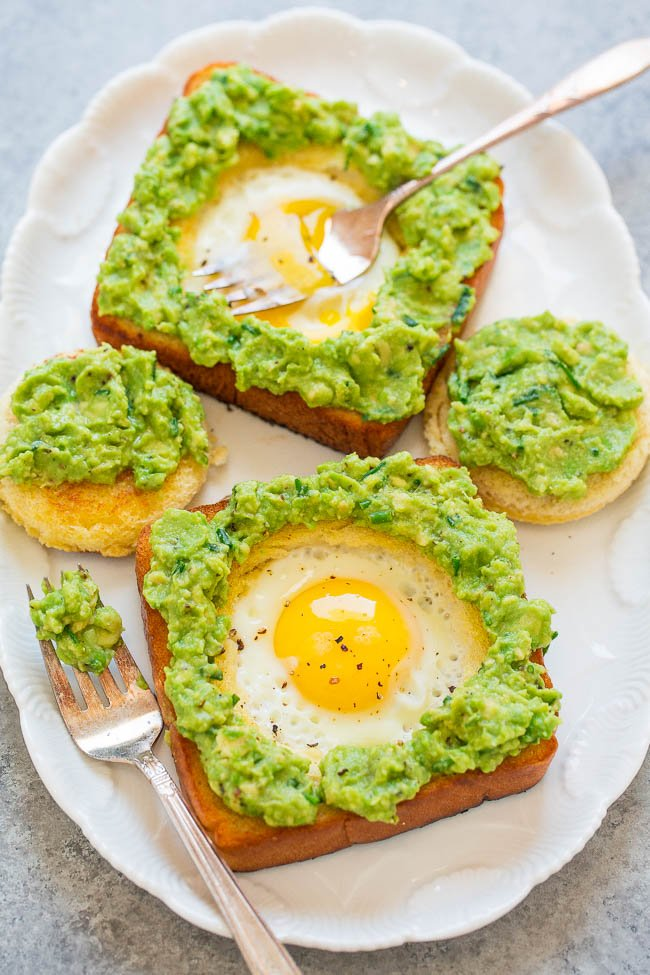 Egg In A Hole Avocado Toast on plate