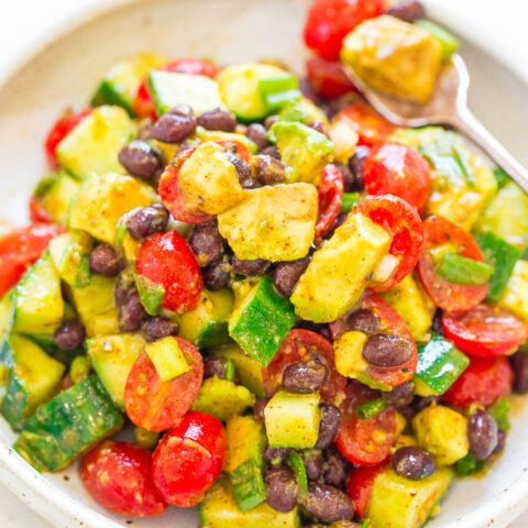 Avocado Black Bean Mexican Salad