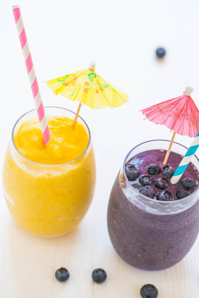 Make-Ahead Smoothie Freezer Packs - Prep your breakfasts and snacks for the week with these easy and DELISH freezer pack smoothie recipes!! They'll make your mornings and your life so much EASIER!!