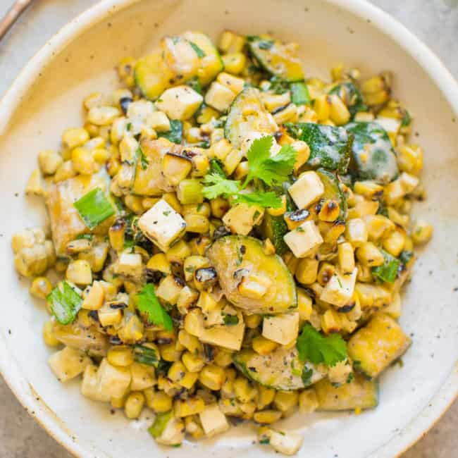 Mexican Grilled Corn and Zucchini Salad