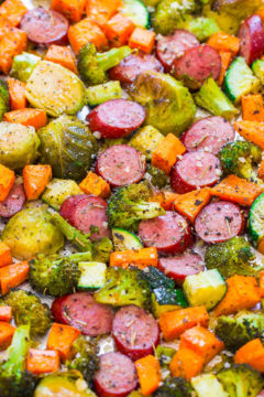 Sheet Pan Turkey Sausage and Vegetables