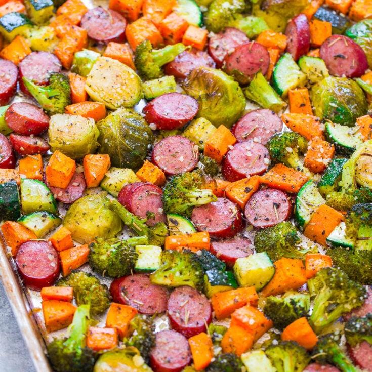 Sheet Pan Turkey Sausage and Vegetables