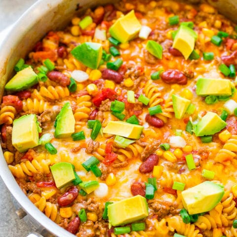One-Skillet Beef Taco Pasta