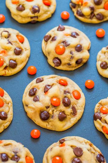 Halloween M&M's Chocolate Chip Cookies