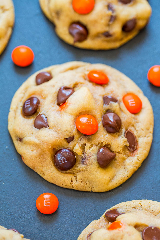 Halloween M&M's Chocolate Chip Cookies