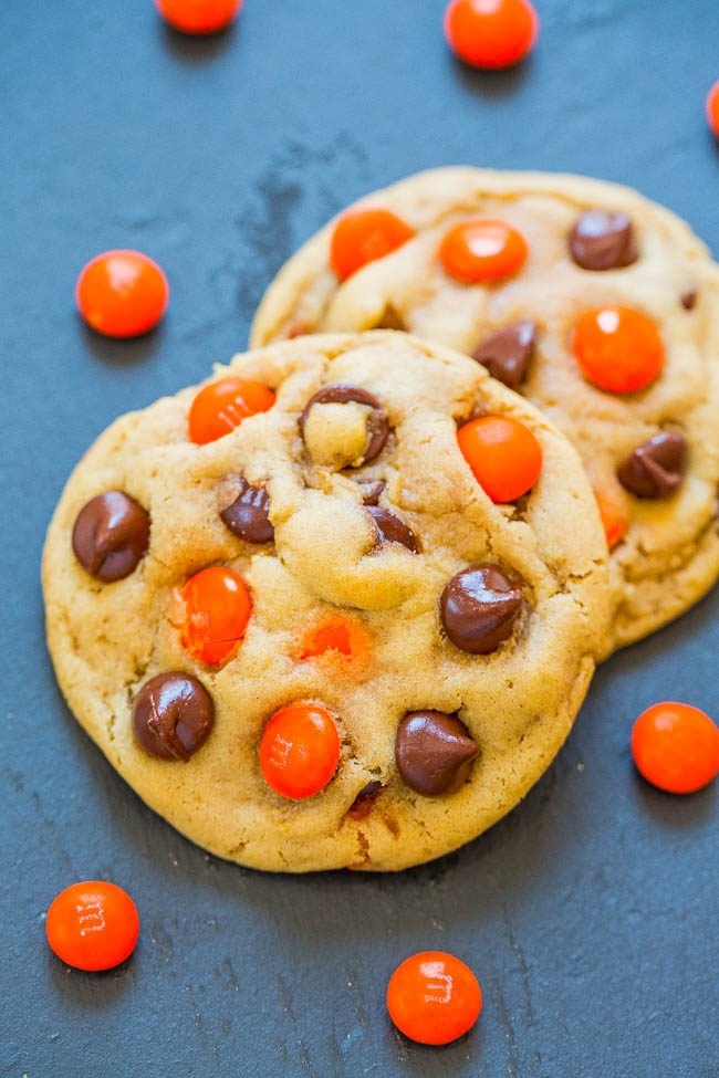 Chocolate Chip M&M's Halloween Cookies
