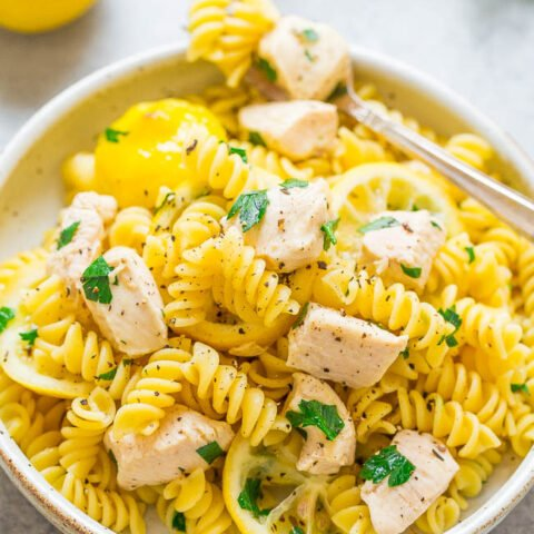 One-Bag Lemon Chicken and Pasta