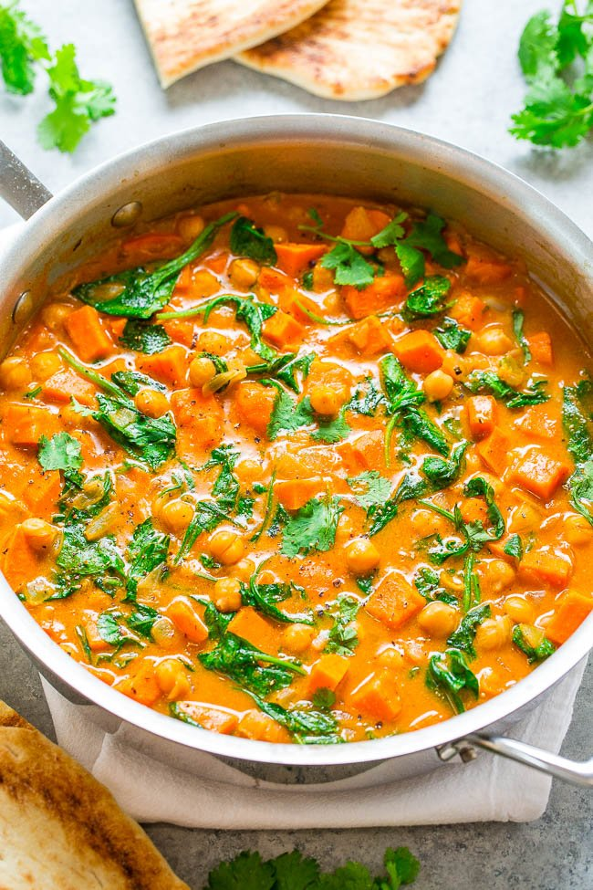 Sweet Potato And Chickpea Coconut Curry Averie Cooks