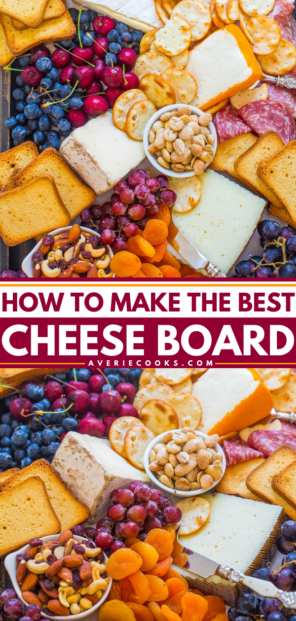 How To Make The Best Cheese Board - Learn my TIPS and tricks to create the BEST cheese board!! From brie to prosciutto and everything in between, this board has it ALL! It'll be a major hit at your next party!!
