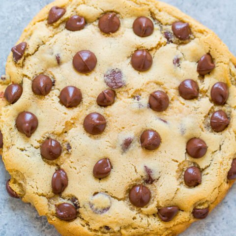 One-Bowl, No-Mixer, No-Chill, Giant Chocolate Chip Cookie For One