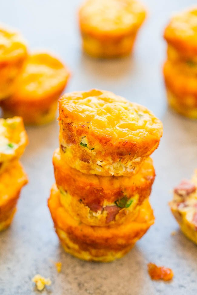 100-Calorie Cheesy Sausage and Egg Muffins