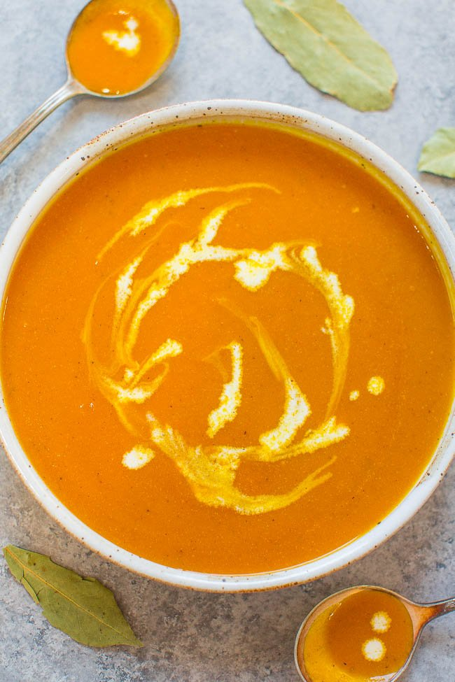 Easy Pumpkin Soup Recipe Ready In 30 Minutes Averie Cooks