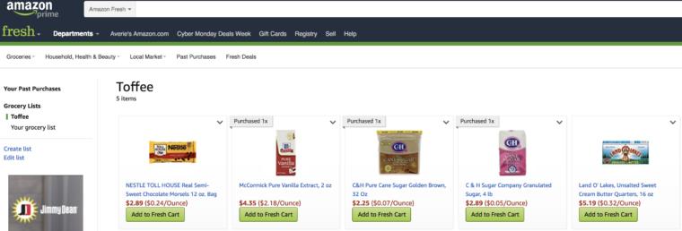 Amazon Fresh screenshot