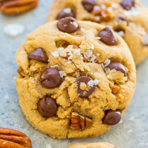 Sea Salt Browned Butter Chocolate Chip Pecan Cookies