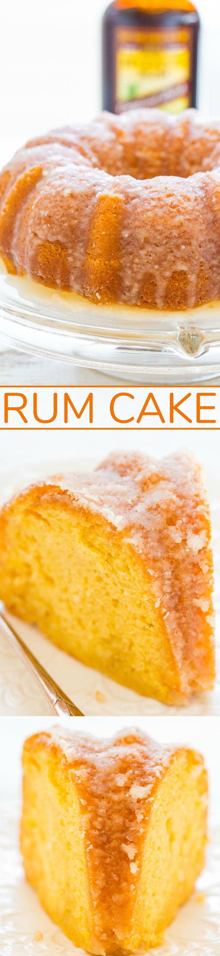 Rum Cake - A double dose of rum in this EASY cake that's supremely moist, buttery, and literally juicy from all the rum!! The perfect make-ahead holiday entertaining cake that everyone will LOVE!!
