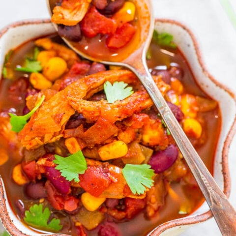 Easy 30-Minute Chicken Enchilada Chili