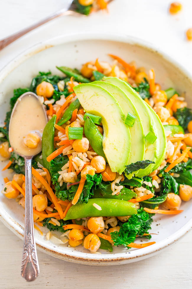 Chickpea and Kale Glow Bowl with Dreamy Tahini Dressing