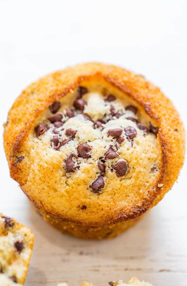Skinny Vegan Chocolate Chip Muffins