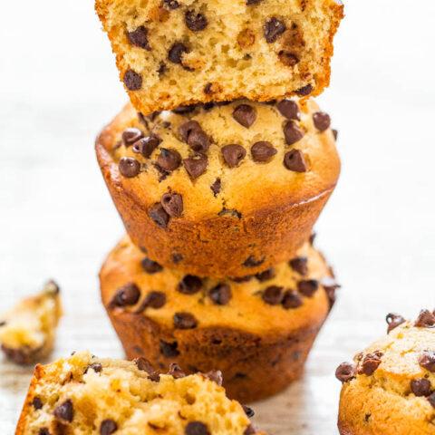Vegan Peanut Butter Chocolate Chip Muffins