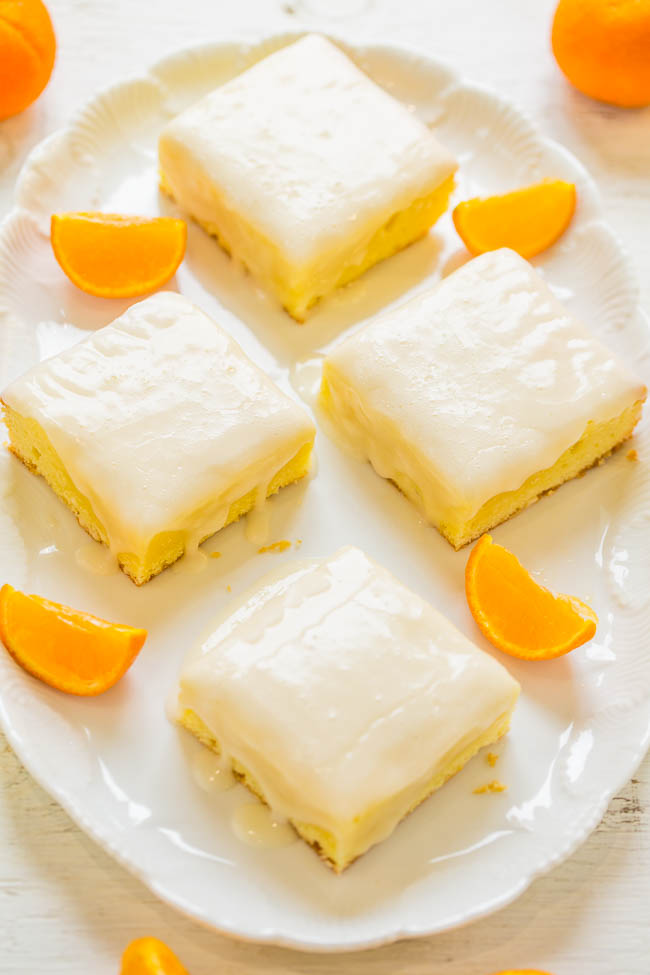 Orange Lemon Orangies -  Like brownies, but made with orange, lemon, and white chocolate!! Fast, EASY, dense, chewy, and packed with big, BOLD citrus flavor!!