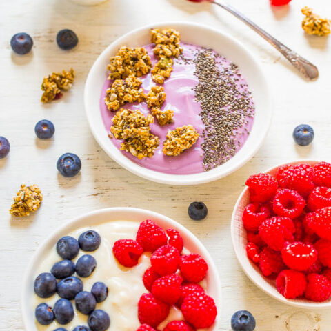 Fruit and Granola Yogurt Bowls