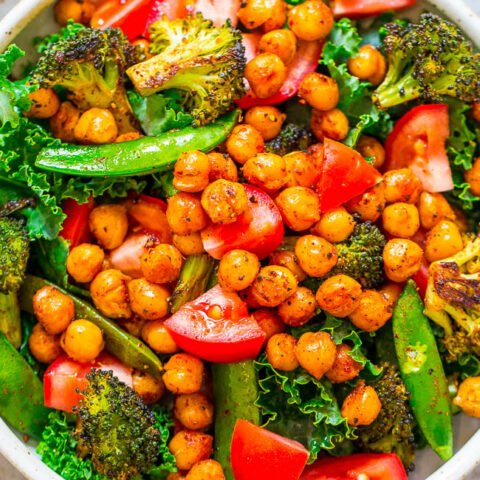 Smoky Roasted Chickpea Salad with Buttermilk Chive Dressing