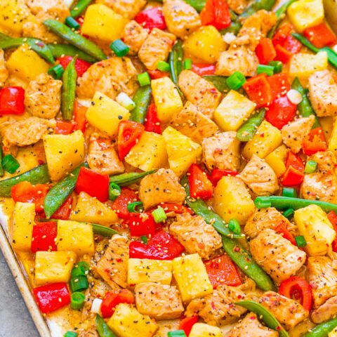 15-Minute Sheet Pan Pineapple Teriyaki Chicken
