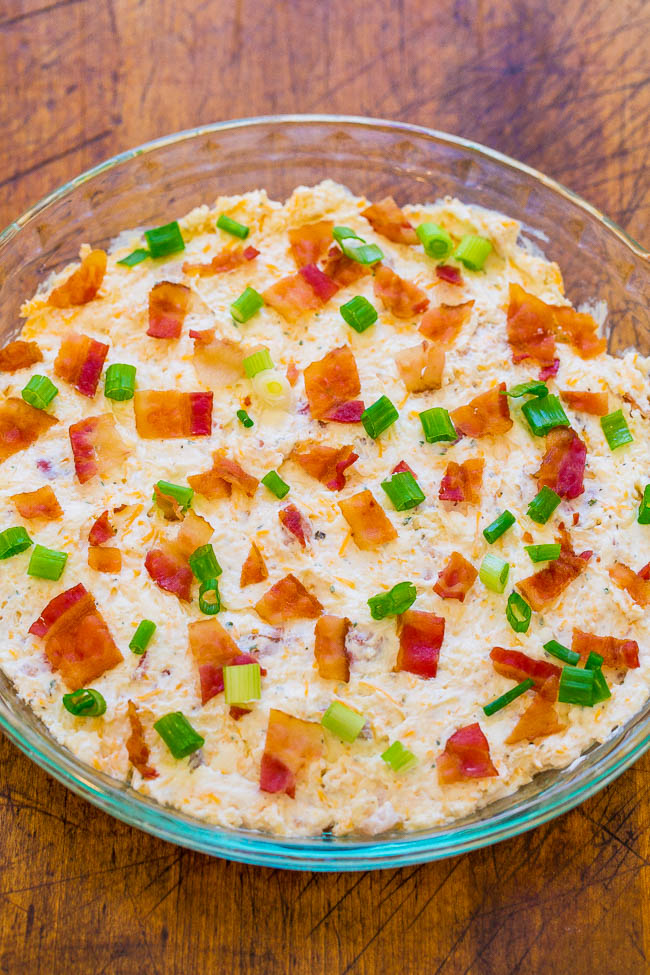 4 Easy Dips - Buffalo Chicken Dip, Taco Dip, Bacon Ranch Dip, and Chocolate Candy Bar Dip!! Three savory dips and one sweet dessert dip! FAST, EASY, and guaranteed to be hits at your next party or event!!