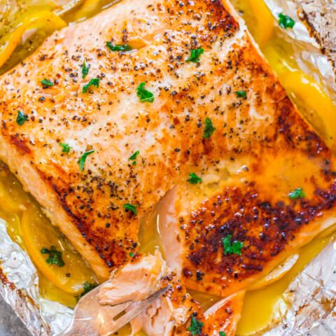 Sheet Pan Lemon Garlic Butter Salmon