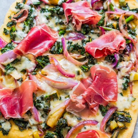 Prosciutto and Balsamic Greens Flatbread