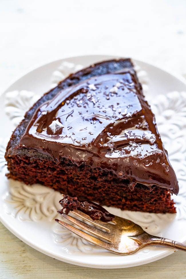 Cabernet Chocolate Cake with Chocolate Ganache