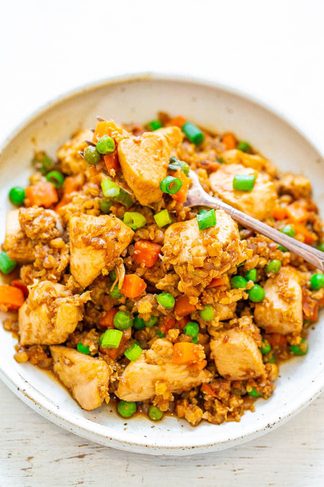 Skinny Chicken Cauliflower Fried Rice