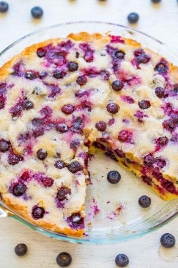Crustless Blueberry Pie