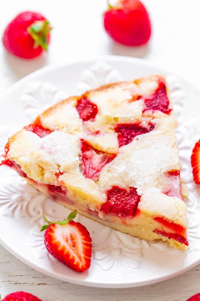 Crustless Fresh Strawberry Pie