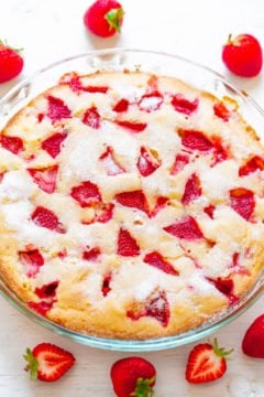 Crustless Fresh Strawberry Pie