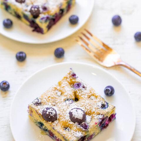 Blueberry Pancake Breakfast Squares