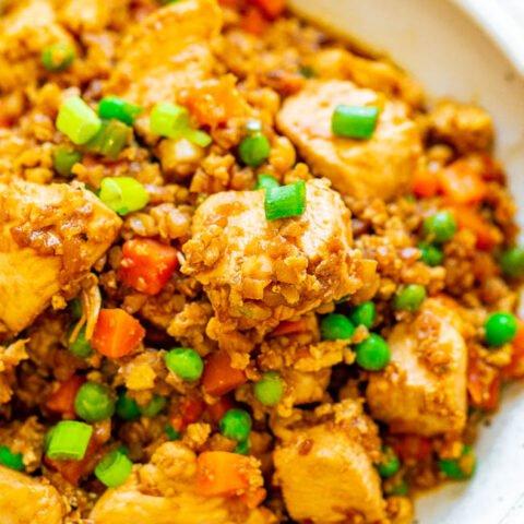 Skinny Chicken Fried Cauliflower Rice