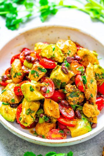 Chicken Avocado Black Bean Salad
