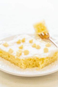 White Chocolate Texas Sheet Cake