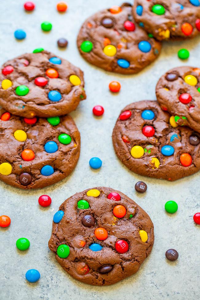 Chocolate Cake Mix M&M's Cookies