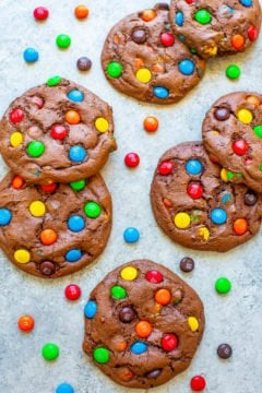 Chocolate Cake Mix M&M's Cookies