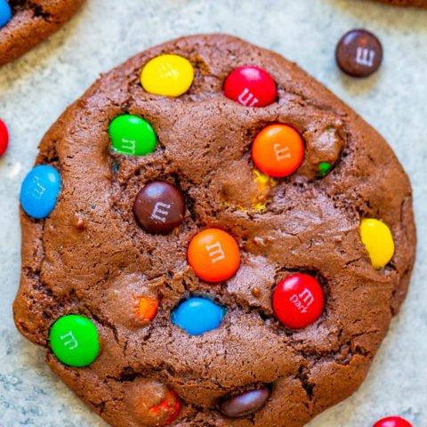M&M's Chocolate Cake Mix Cookies