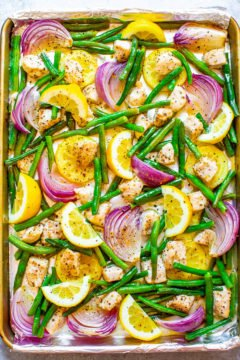 15-Minute Sheet Pan Lemon Pepper Chicken