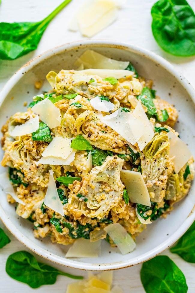 Spinach And Artichoke Quinoa Salad Averie Cooks