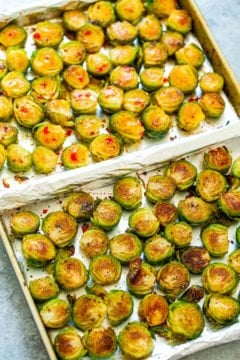 Roasted Brussels Sprouts {Two Ways in One}