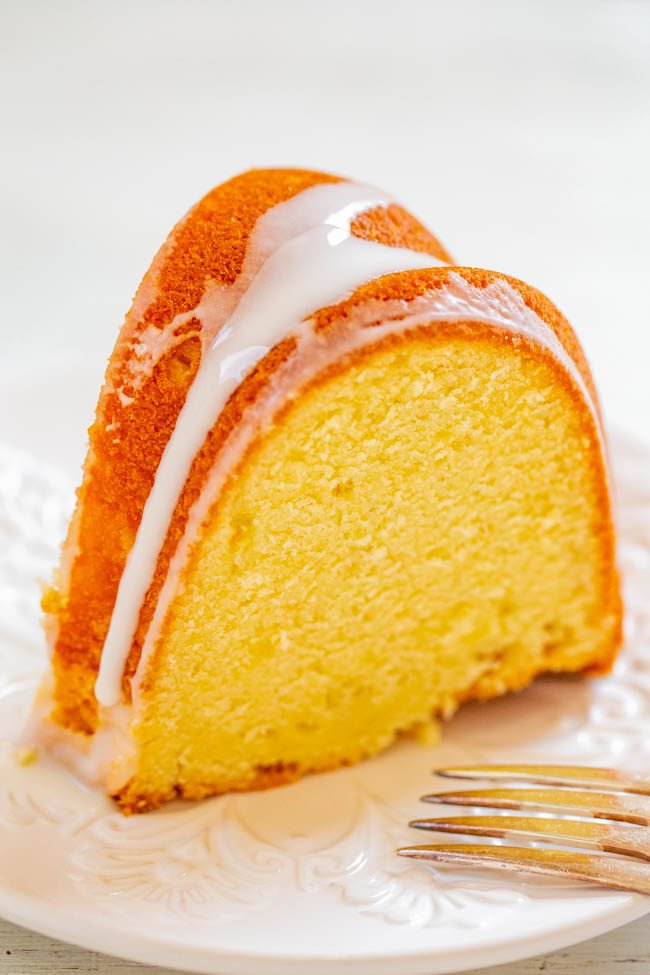 Easy Glazed Pound Cake